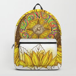 Sunflower Compass Backpack