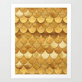 Golden Scales Art Print