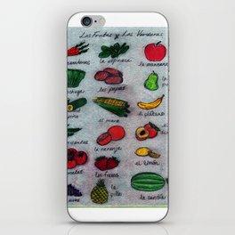 Frutas & Verduras iPhone Skin