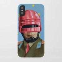 Pink Robocop Slim Case iPhone X