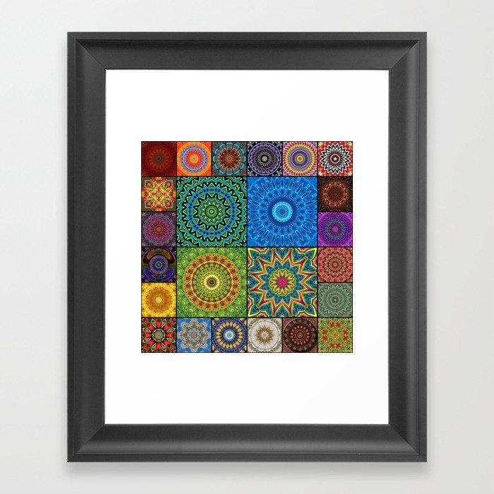 Mandala Madness Framed Art Print