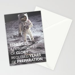 Motivational - Prepare For Glory (Moon Landing) Stationery Cards