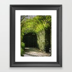 Under the garden arches of Versailles  Framed Art Print