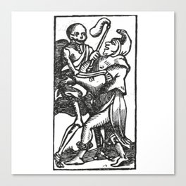 Death dancer Canvas Print
