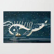 Sky Whale Shark Canvas Print