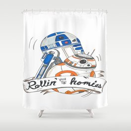 Rollin' with the homies Shower Curtain