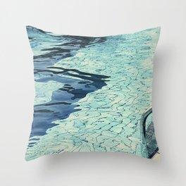 Summertime swimming Throw Pillow