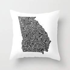 Typographic Georgia Throw Pillow
