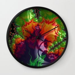 Fire Up Wall Clock