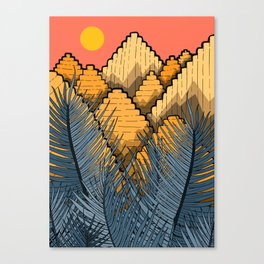 Pyramid Mountains Canvas Print
