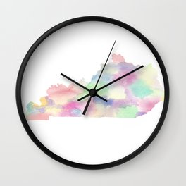 Watercolor State Map - Kentucky KY colorful Wall Clock