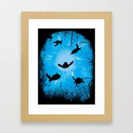 Turtle World Framed Art Print