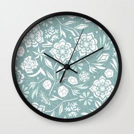 Frozen garden Wall Clock