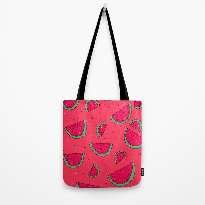 The Joy of Eating Watermelon in the Summer Tote Bag