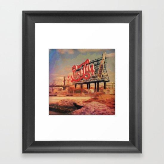 Urban detail Framed Art Print