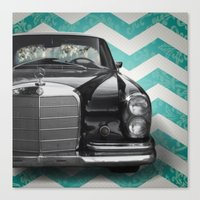 mercedes Canvas Prints featuring Chevron Mercedes by Habit {F}