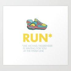 Funny quotes Art Print