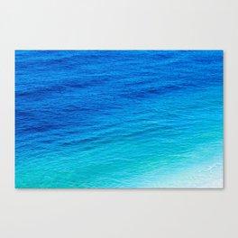 Colors of sea Canvas Print