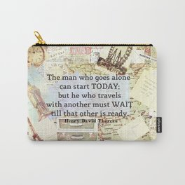 Travel Quote by Henry David Thoreau Carry-All Pouch