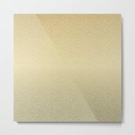 Light Waves in Golden Metal Print