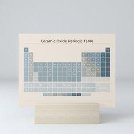 Ceramic Oxide Periodic Table in Ocean on Sand Mini Art Print
