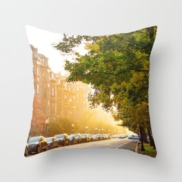 Boston, MA - Commonwealth Avenue Throw Pillow