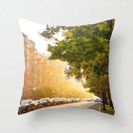 Boston, MA - Commonwealth Avenue Throw Pillow