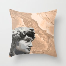 Michelangelo's David Throw Pillow