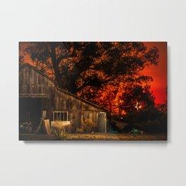 Red sunset in rural California Metal Print