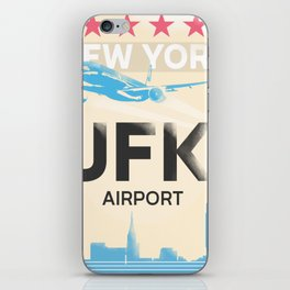 JFK stylish airport code iPhone Skin