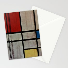 Piet Mondrian Composition with Red, Yellow and Blue Stationery Cards