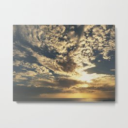 Sunset Cloud Formation Metal Print
