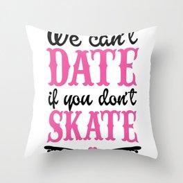 Skateboard Skater Girl Shirt Sk8er Skateboarder Throw Pillow