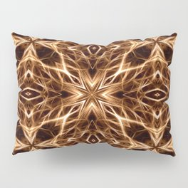 Abstract Geometric Light Factual Copper Pillow Sham