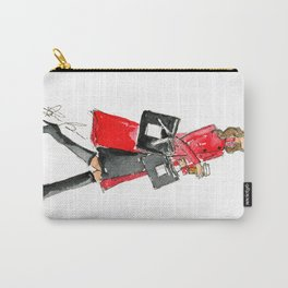 Walking Out of 5th Avenue Fashion Illustation by Elaine Biss Carry-All Pouch