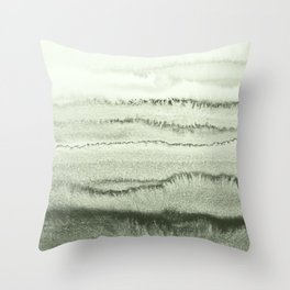 WITHIN THE TIDES - SAGE GREEN by MS  Throw Pillow