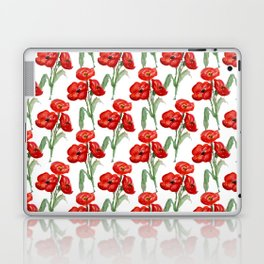 Watercolor Red Poppies Laptop & iPad Skin