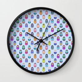 Hundred Matroyshka Wall Clock