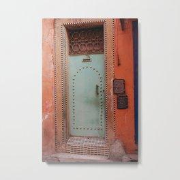 Unique door in Marrakech, Morocco  Metal Print
