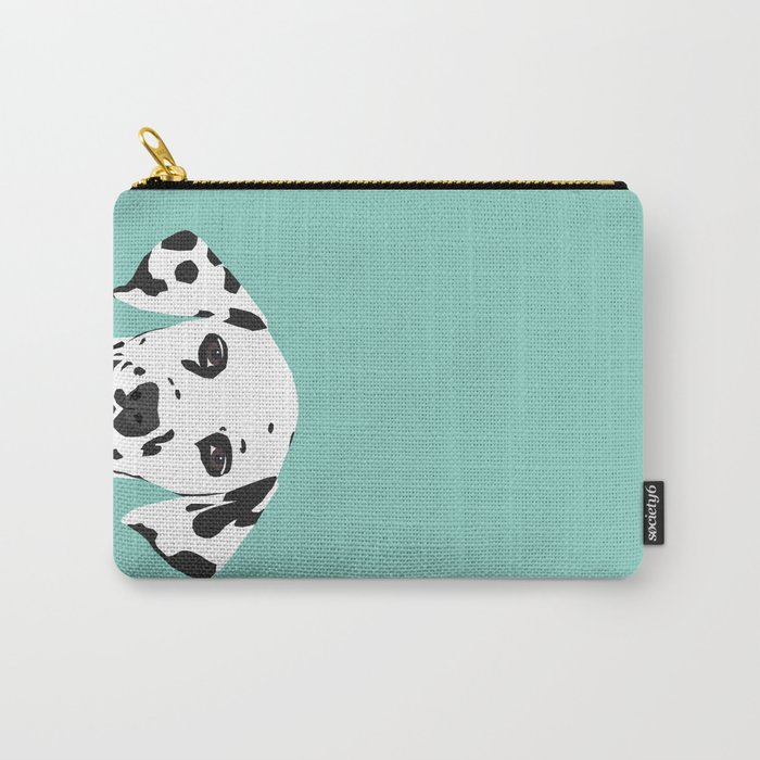Dalmatian cute puppy dog black and white mint pastel gender neutral pet owner gifts love animals Carry-All Pouch