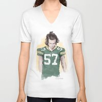 coconutwishes V-neck T-shirts featuring Harry is Packers AF by Coconut Wishes