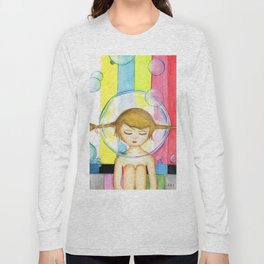 Bubble Girl - Self Portrait Long Sleeve T-shirt