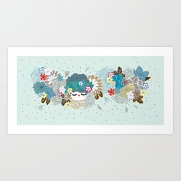 Kokeshina - Hiver / Winter Art Print