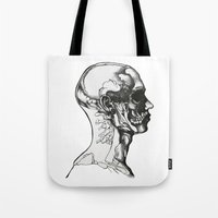 anatomy Tote Bags featuring Anatomy  by Cjillustrations