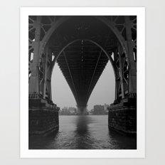 Williamsburg Bridge Underbelly Art Print