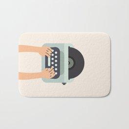 Vinyl Typewriter Bath Mat