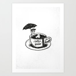 Coffee Holiday Art Print