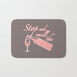 Stop and Smell the Rose Bath Mat