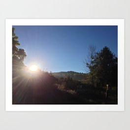 SUNRISE GREETING (Crescent Trail, Fairport, NY) Art Print