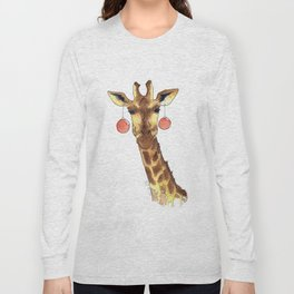 Girafe de Noël Long Sleeve T-shirt